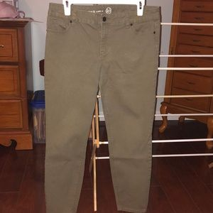 Dress Barn Skinny Ankle Pants, Green, Size 12